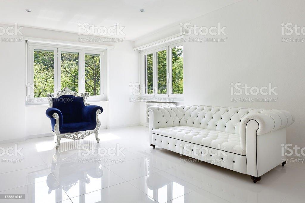 leather sofa, armchair classical stock photo