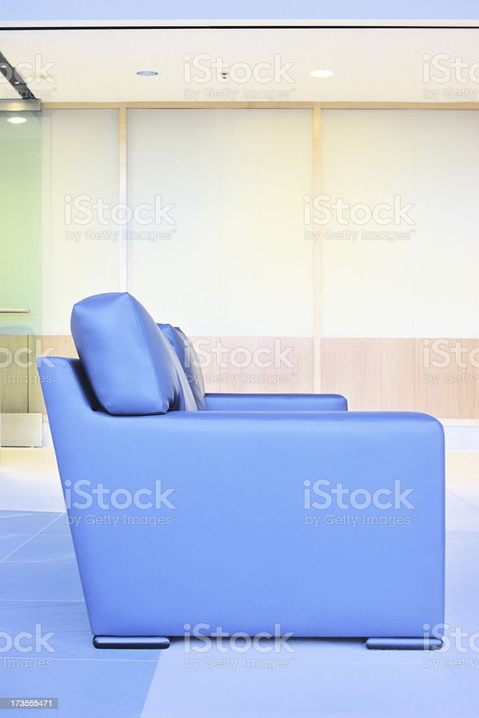 Leather Sofa Business Office Lobby Interior Decor royalty-free stock photo
