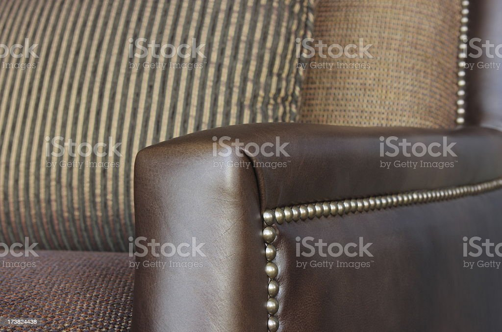 Leather Sofa Chair Upholstery Interior Decor royalty-free stock photo