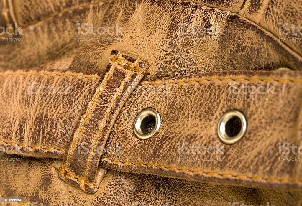 Leather strap showing texture stock photo