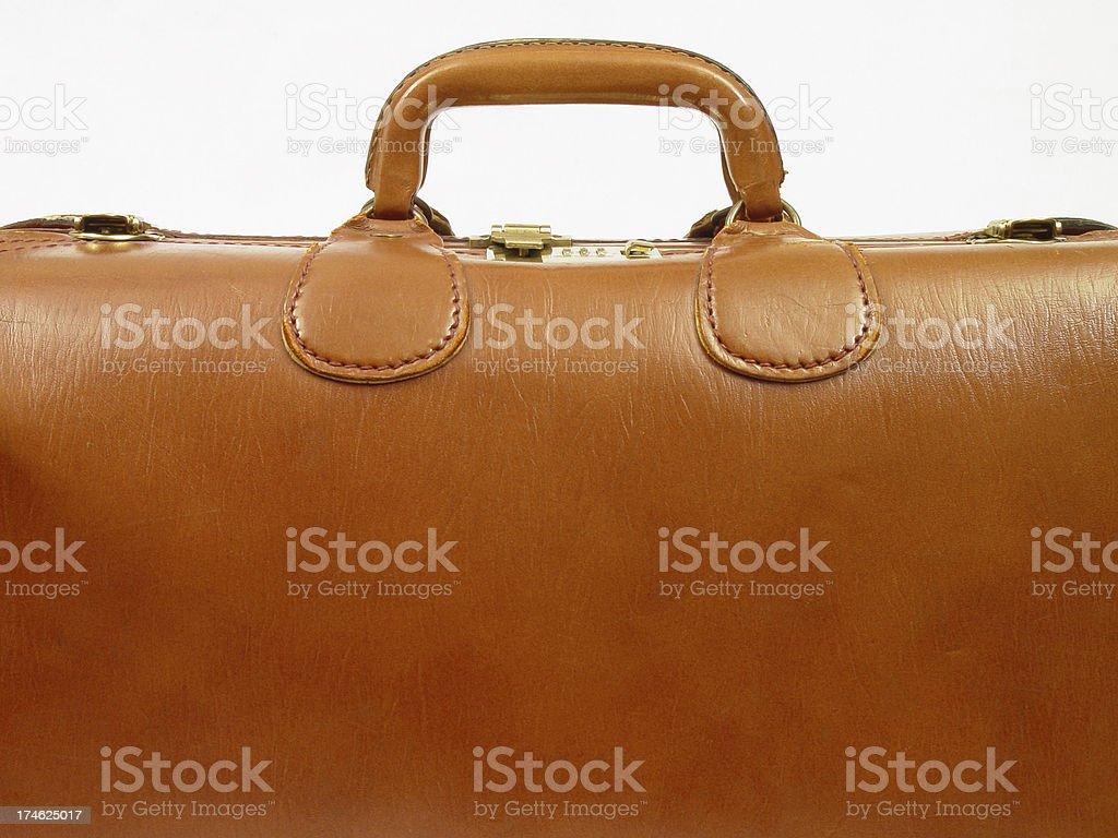 Leather Suitcase stock photo