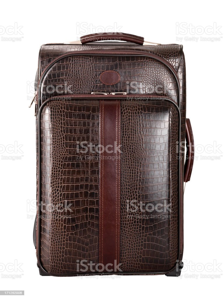 Leather Suitcase+Clipping Path stock photo