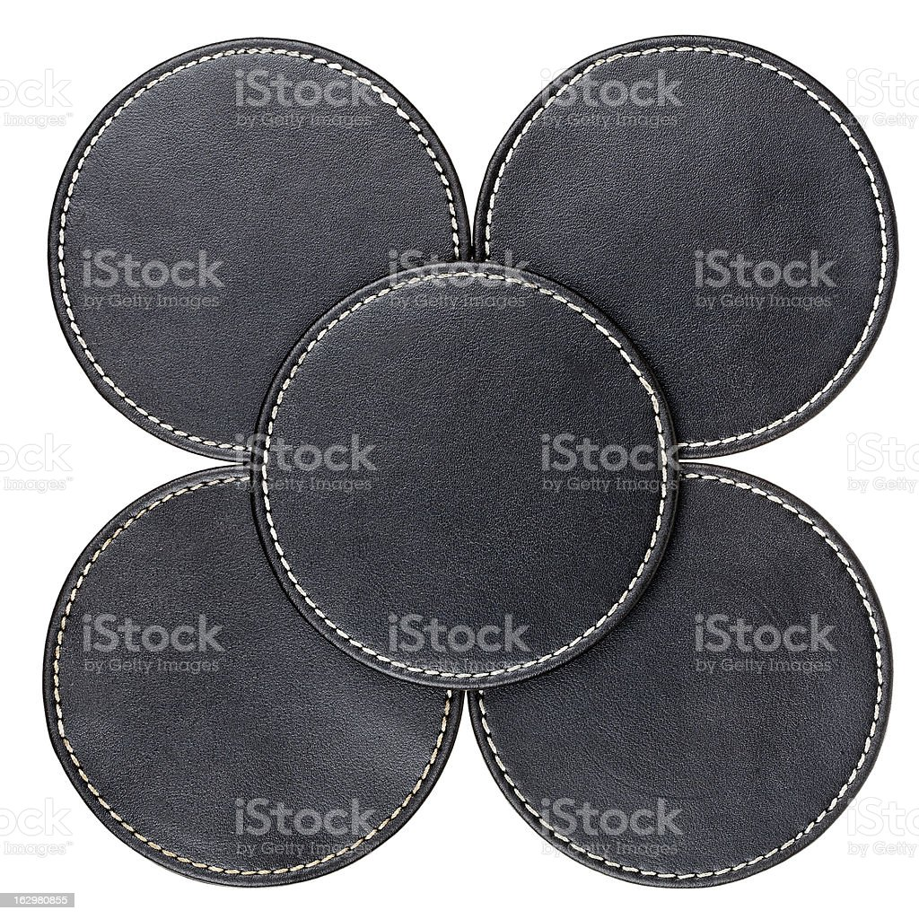 Leather table coasters royalty-free stock photo