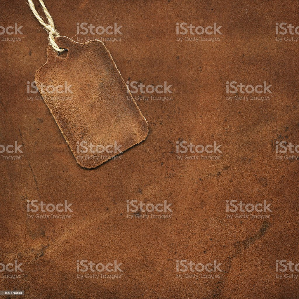 Leather tag royalty-free stock photo