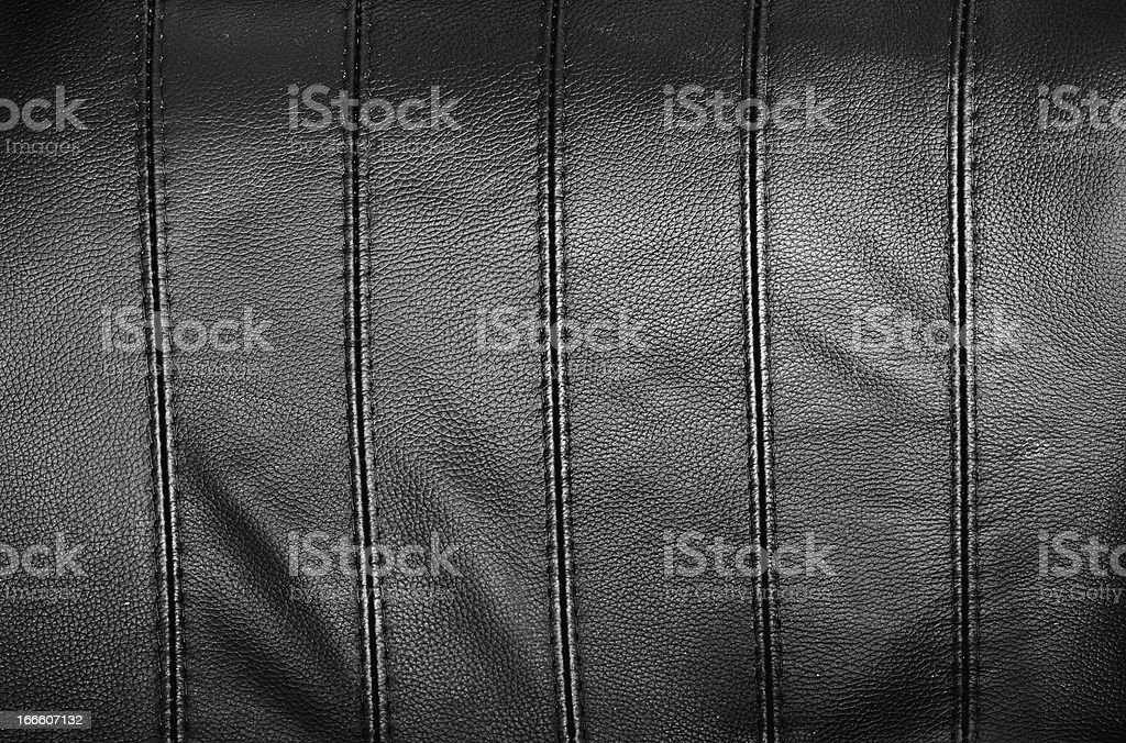 Leather texture in black color royalty-free stock photo