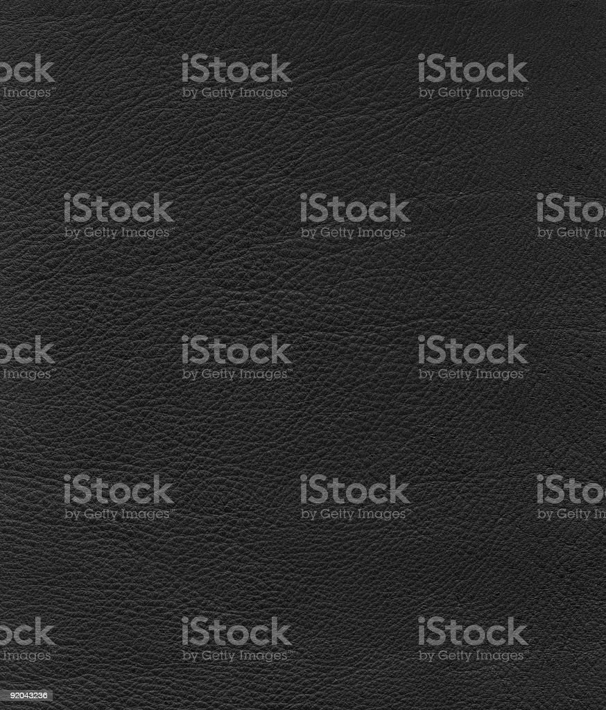 Leather Texture: Soft Black royalty-free stock photo
