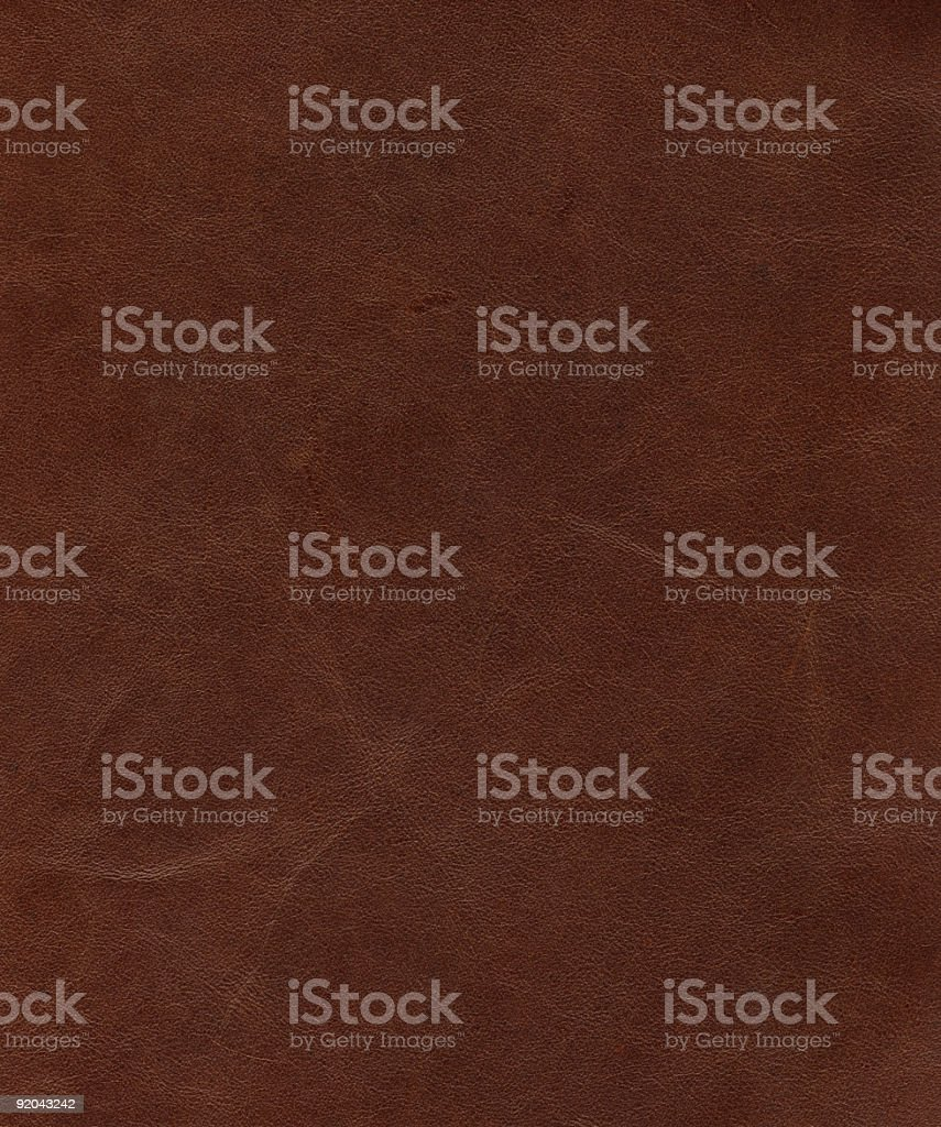 Leather Texture: Soft Brown stock photo
