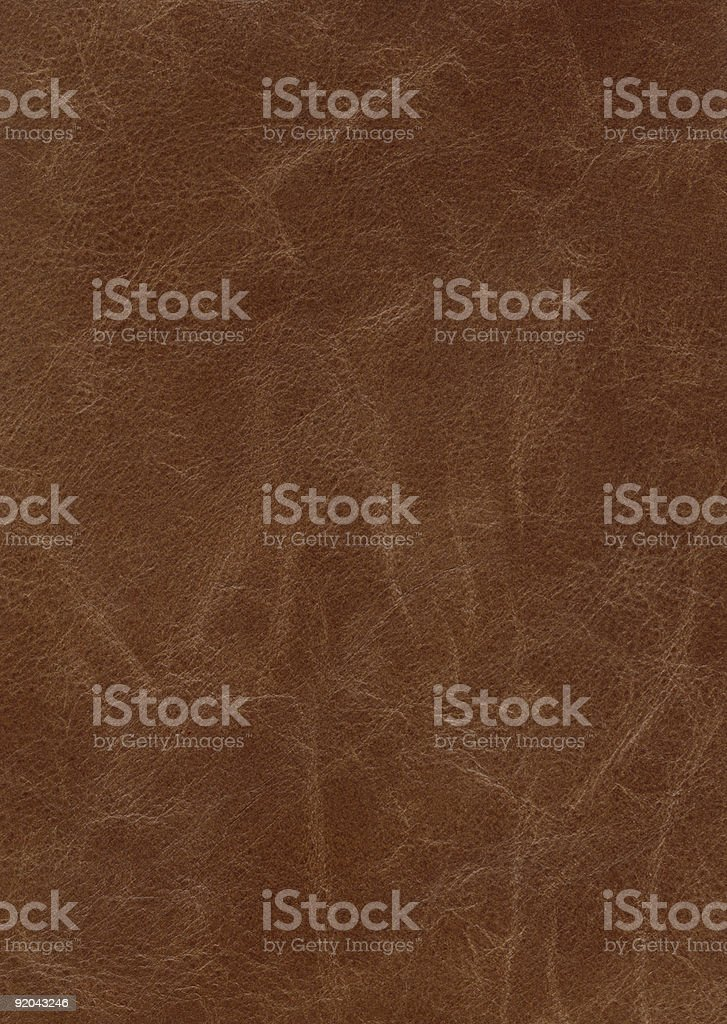 Leather Texture: Worn Brown stock photo