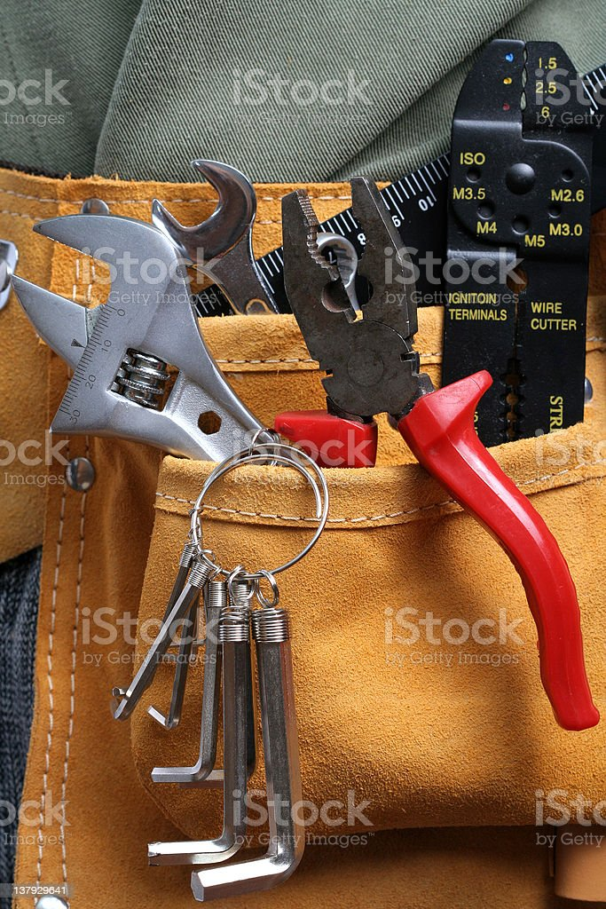 Leather tool belt royalty-free stock photo