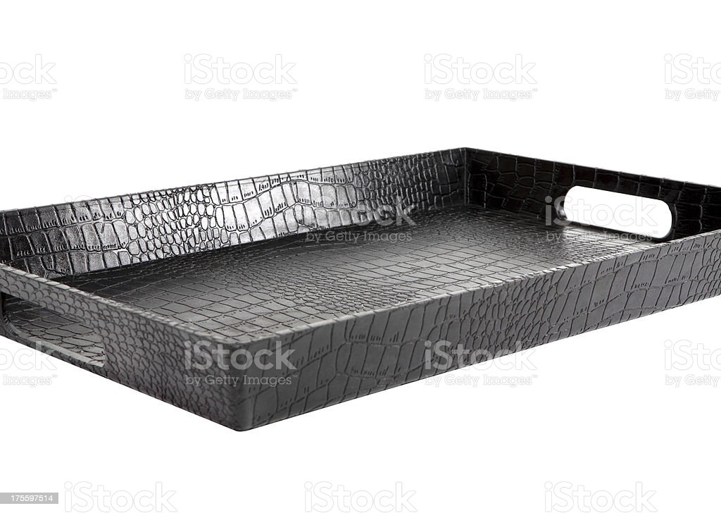 Leather Tray+Clipping Path (Click for more) royalty-free stock photo