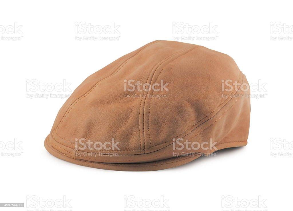 Leather Tweed Cap stock photo