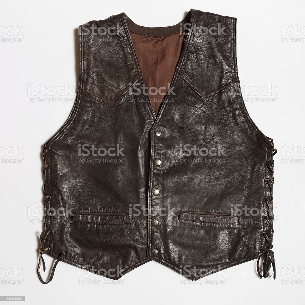 leather vest royalty-free stock photo