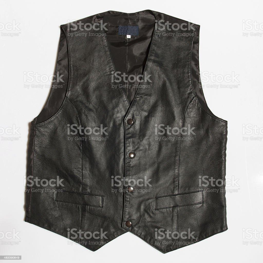 leather vest stock photo