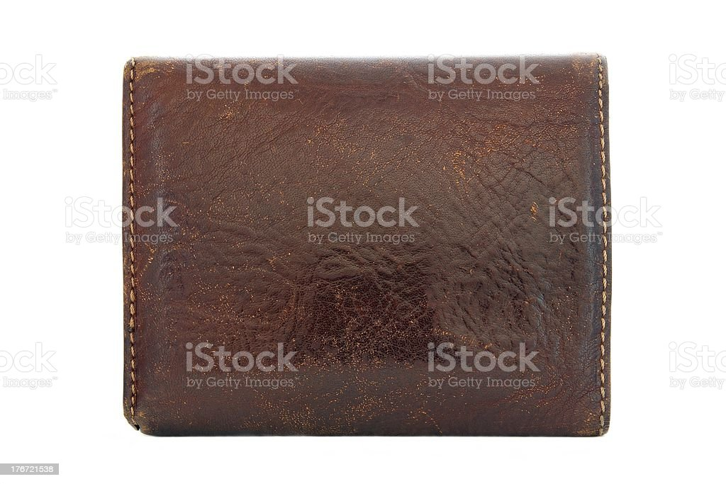 Leather wallet from the back party royalty-free stock photo