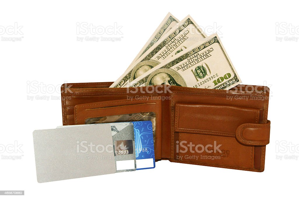 leather wallet with money royalty-free stock photo