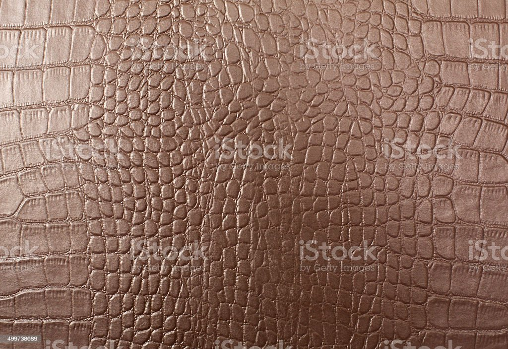 Leather with crocodile skin pattern stock photo