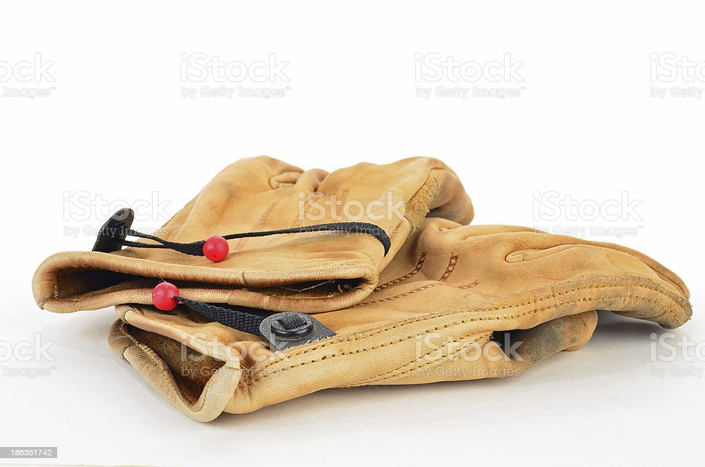 Leather Work Gloves royalty-free stock photo