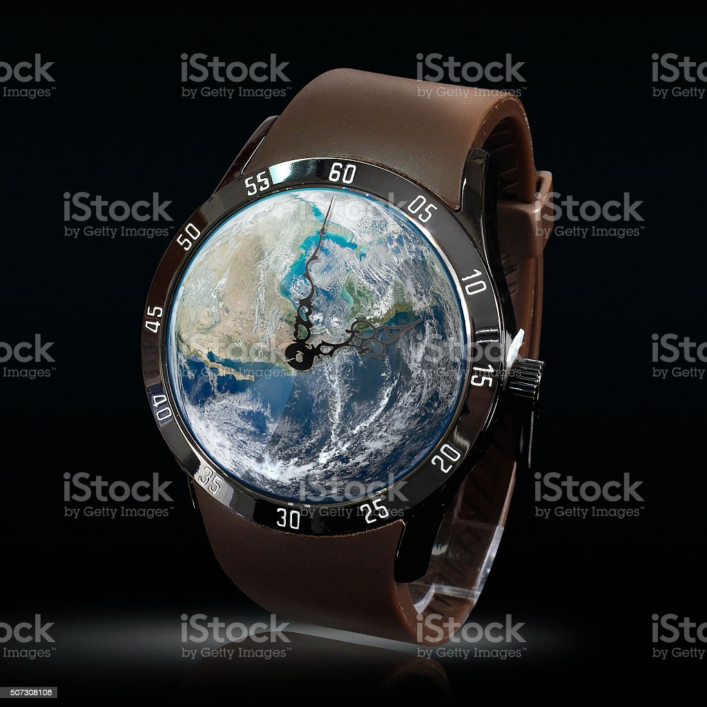 Leather World Watch stock photo