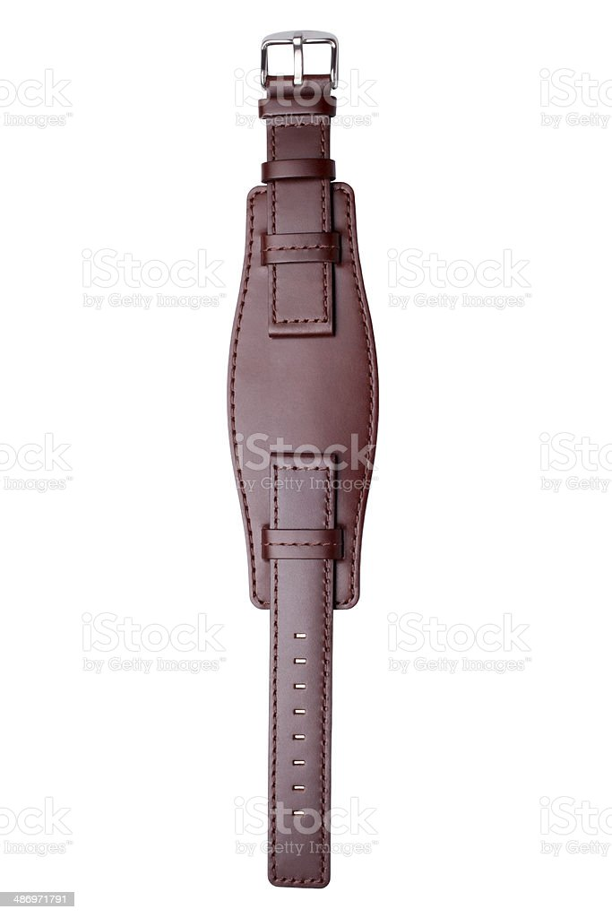 Leather wristlet stock photo