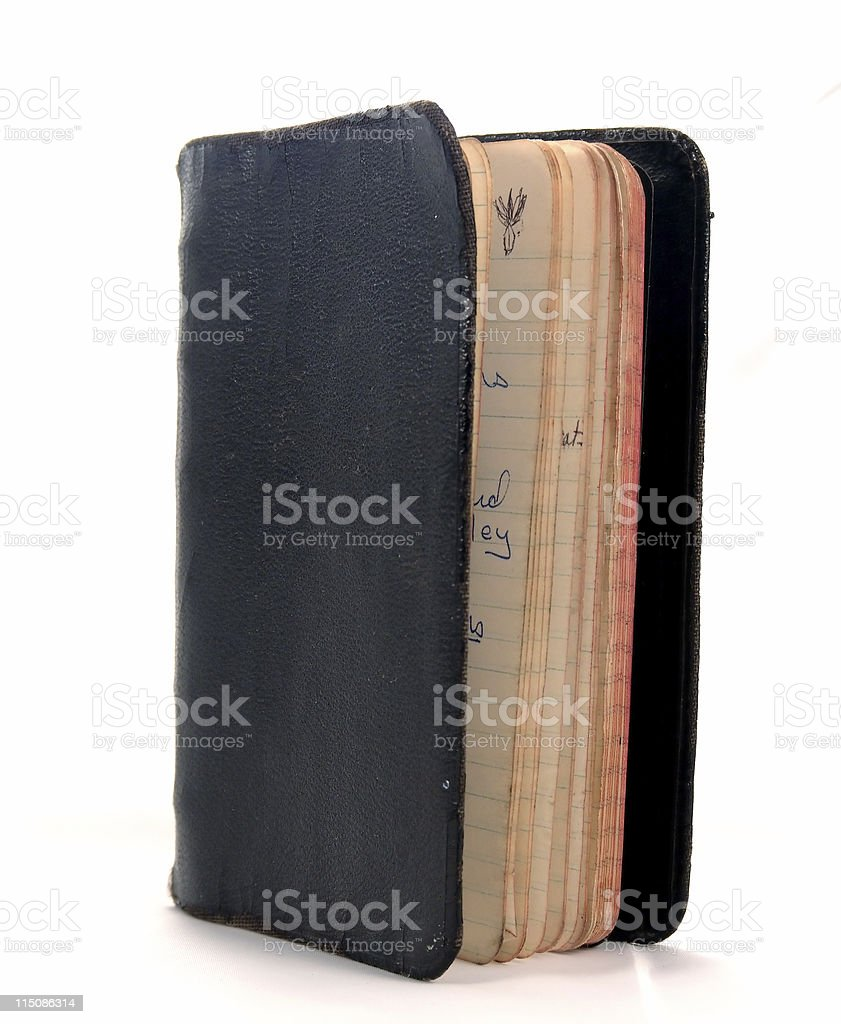 leather writing journal royalty-free stock photo