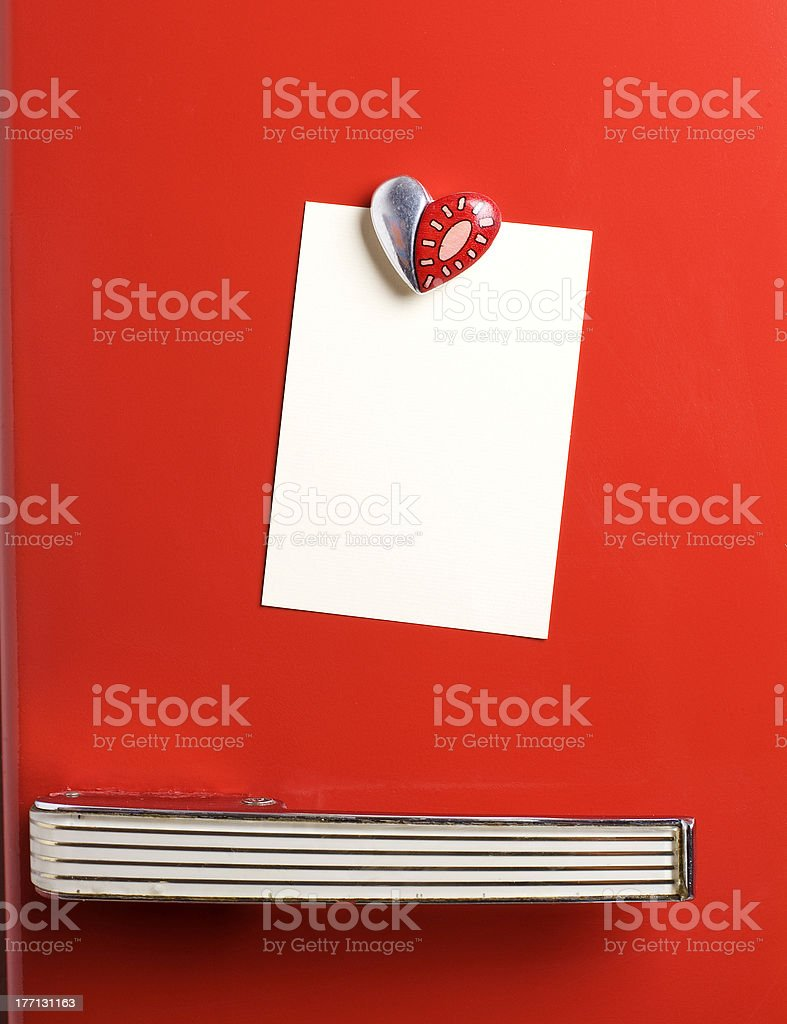 leave a message on the fridge stock photo