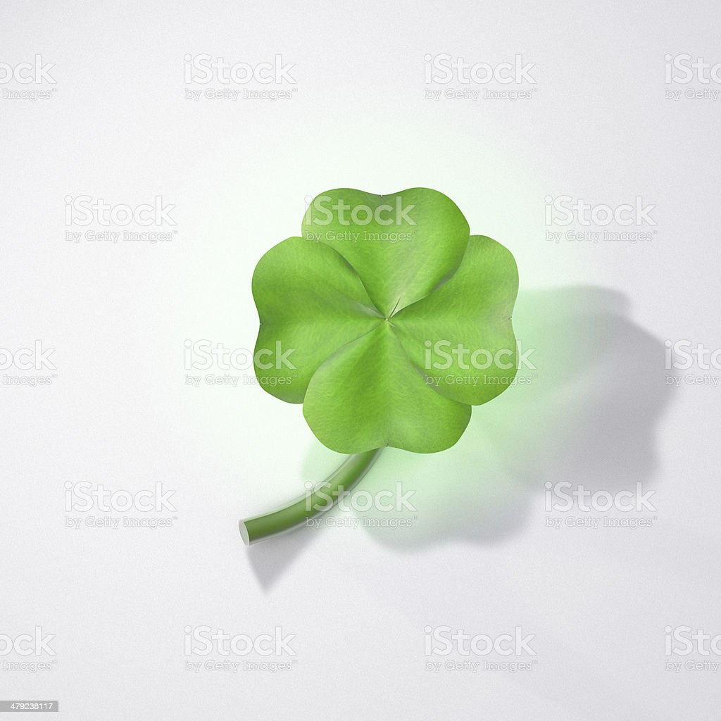 4 Leave Clover royalty-free stock photo