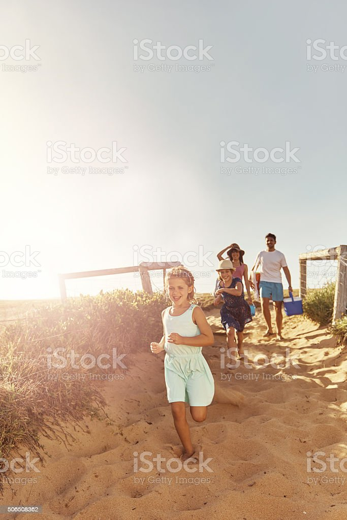 Leave nothing but footprints on the beach stock photo