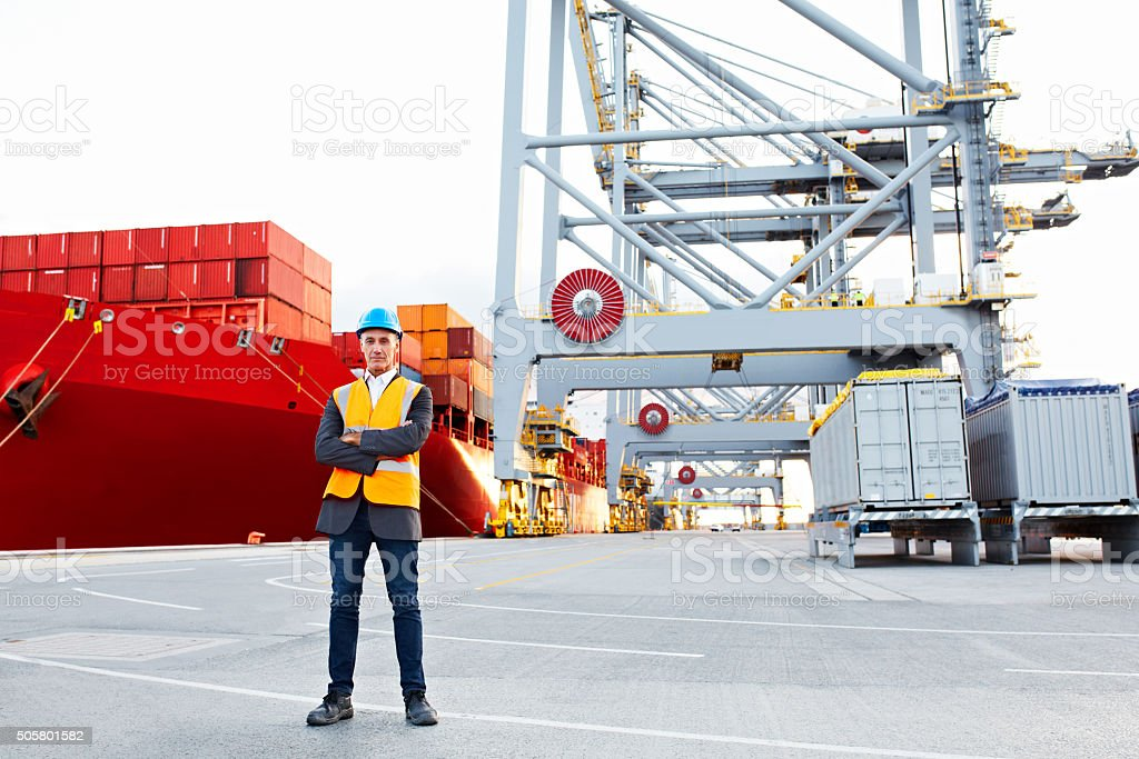 Leave the logistics to me stock photo