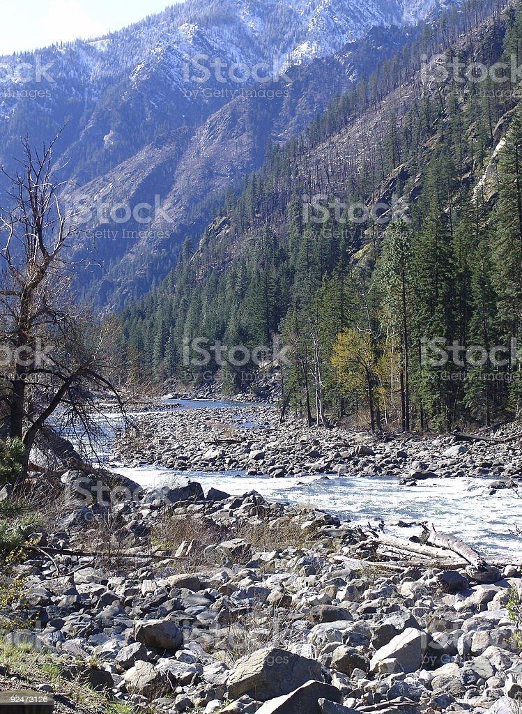 Leavenworth Stream royalty-free stock photo
