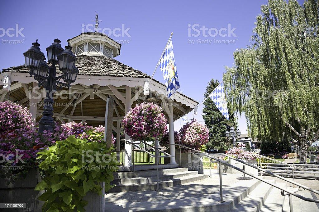 Leavenworth Washington Bavarian Pavillion stock photo