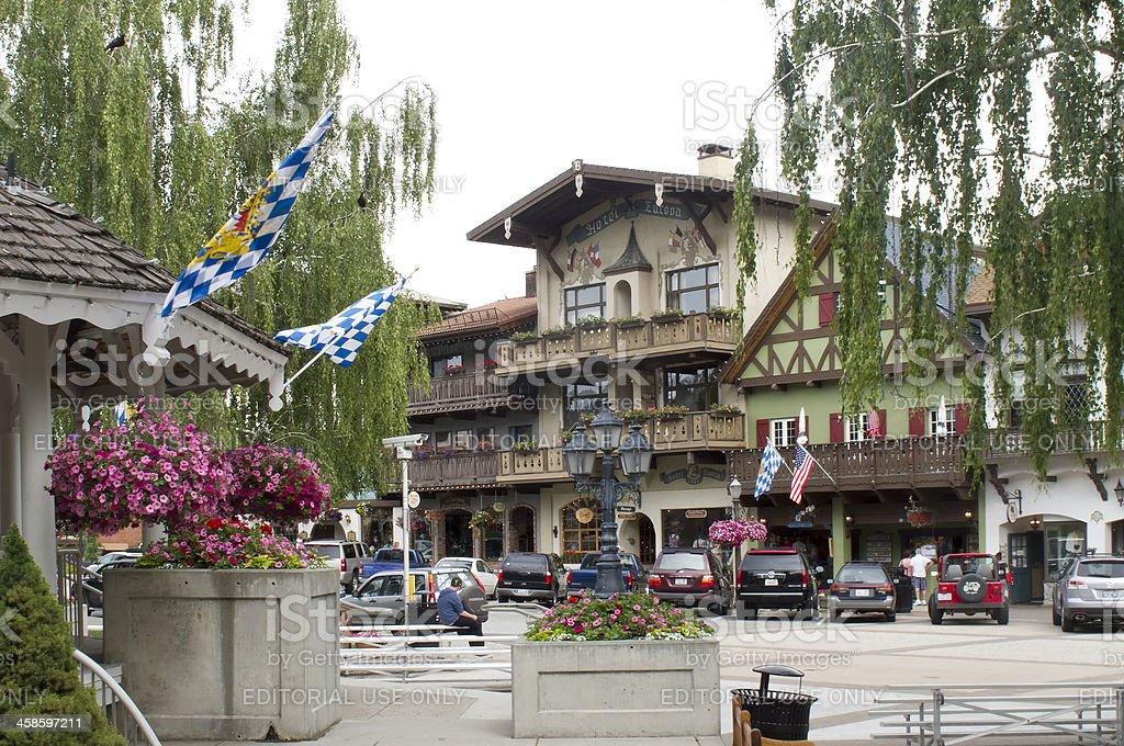 Leavenworth Washington Bavarian Village stock photo