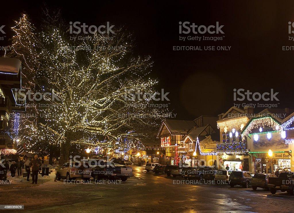 Leavenworth, Washington Chirstmas Lights stock photo