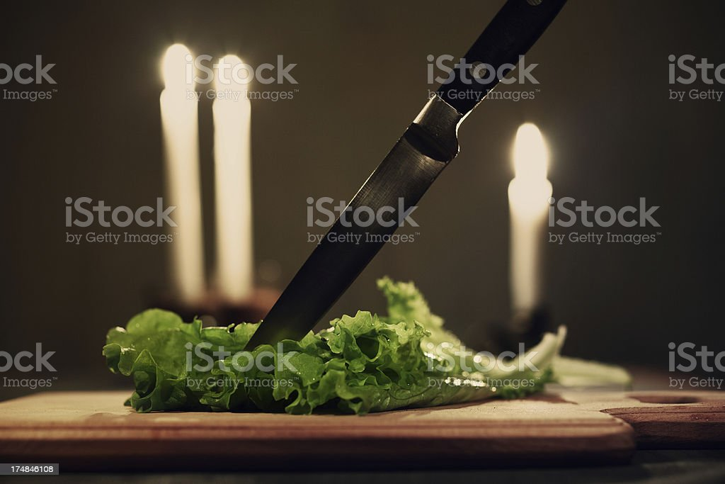 Leaves of green lettuce royalty-free stock photo