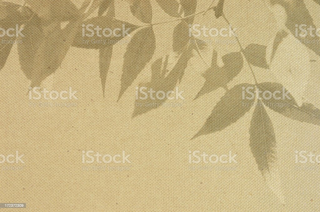 Leaves on canvas royalty-free stock photo