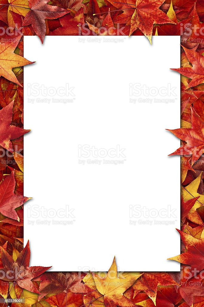 Leaves poster royalty-free stock photo