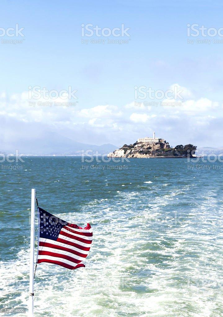 Leaving Alcatraz Island stock photo