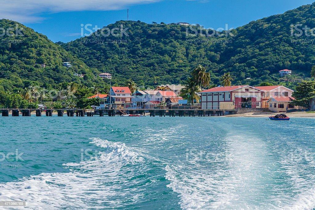 Leaving Carriacou Island stock photo