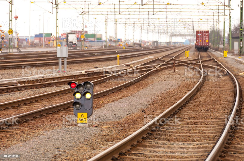 Leaving Goods Train royalty-free stock photo