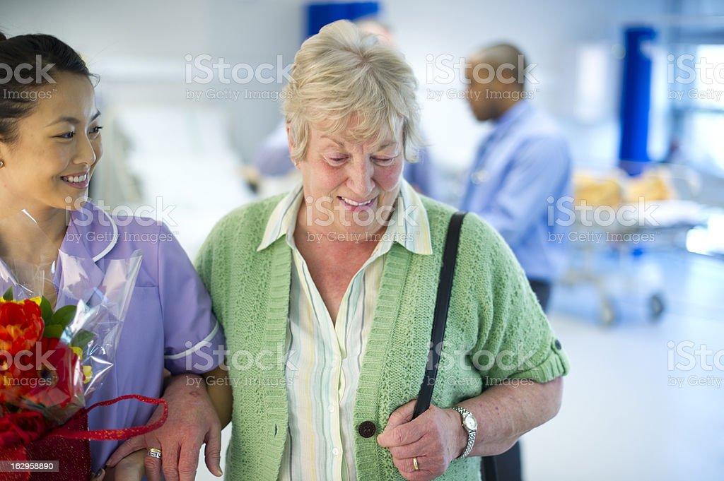 leaving hospital royalty-free stock photo