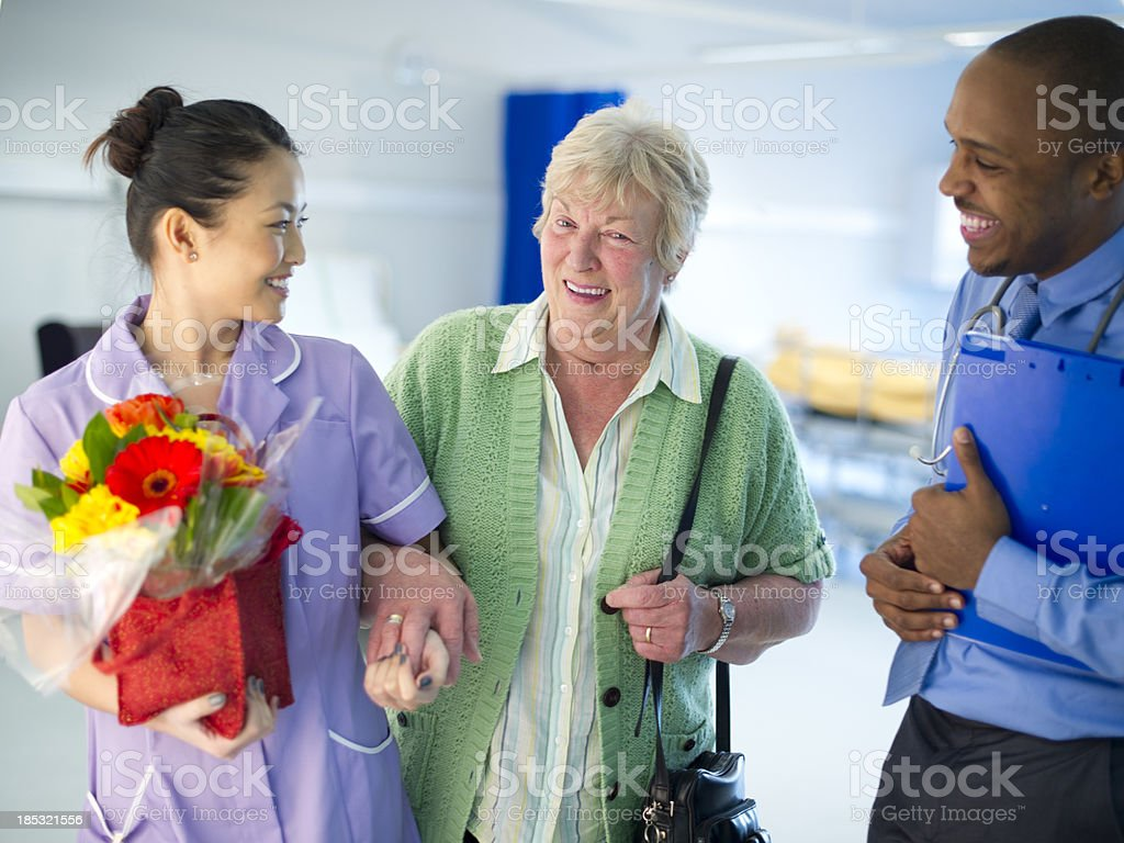 leaving hospital royalty-free stock photo