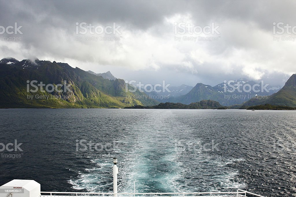 Leaving Lofoten royalty-free stock photo