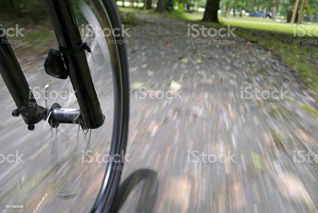 Leaving on a Bicycle royalty-free stock photo
