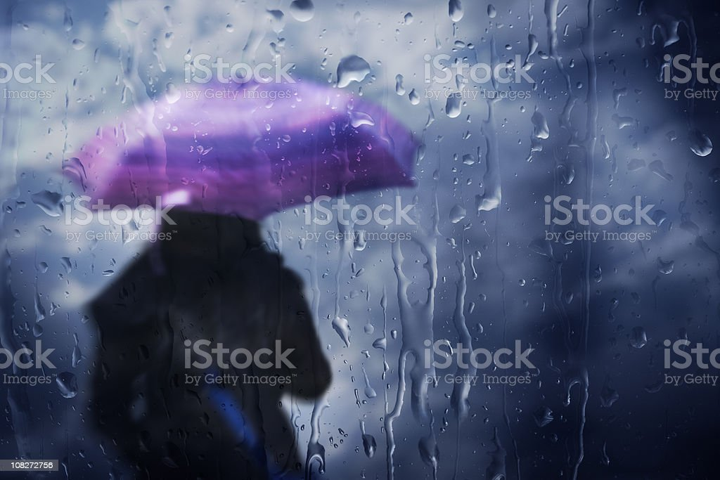 Leaving On A Rainy Day royalty-free stock photo