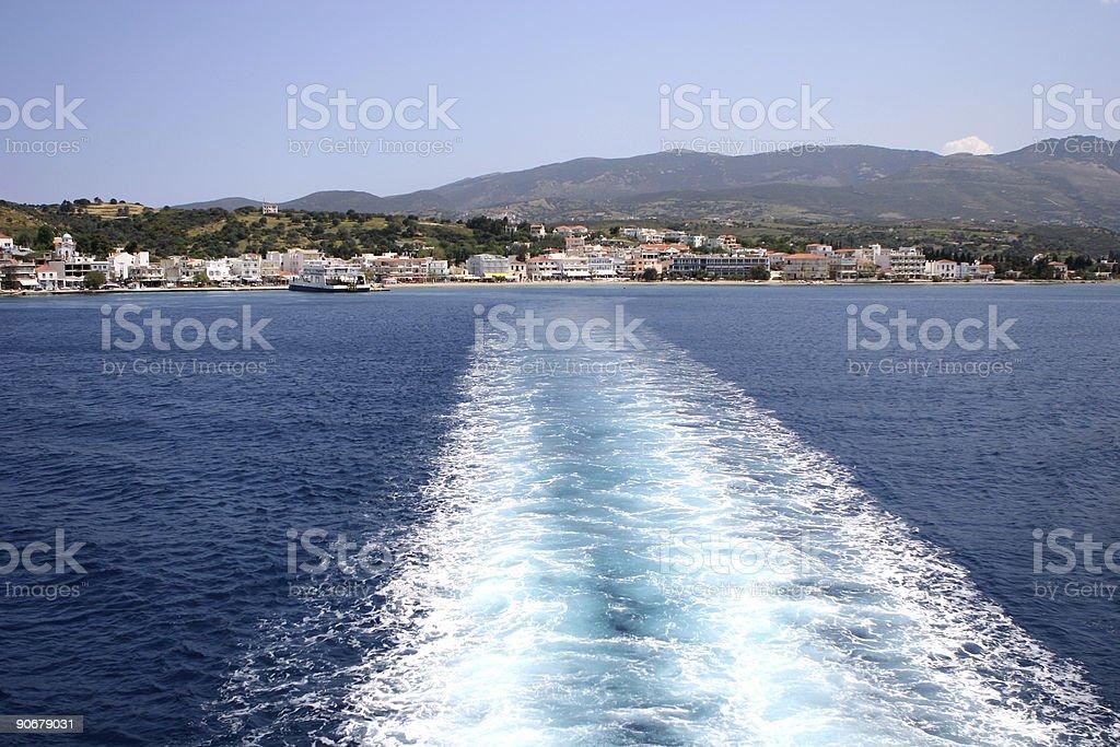 Leaving Port royalty-free stock photo