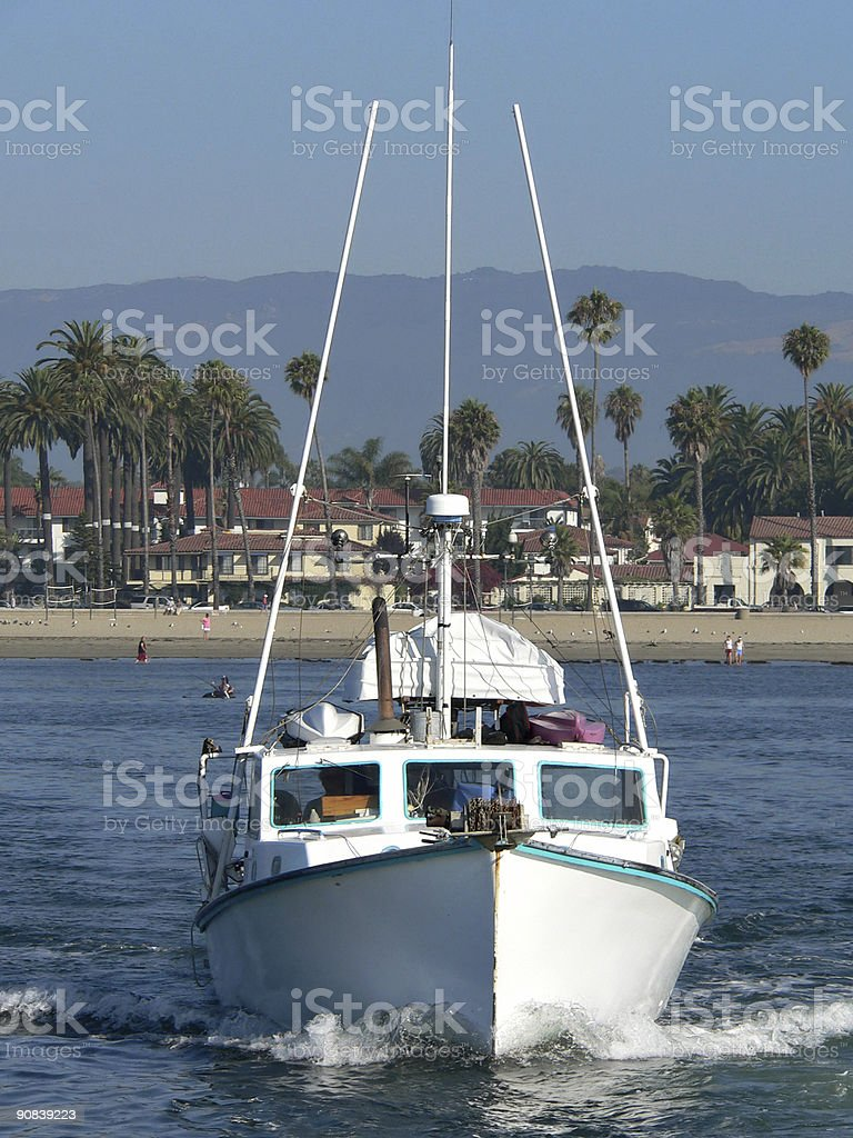 Leaving Santa Barbara royalty-free stock photo
