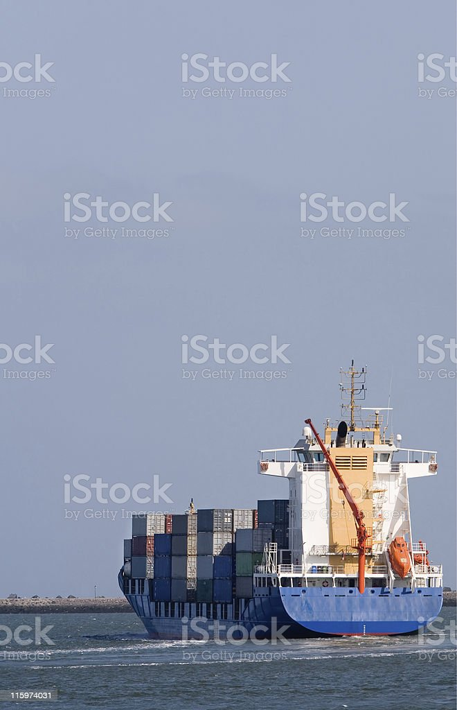Leaving Ship royalty-free stock photo