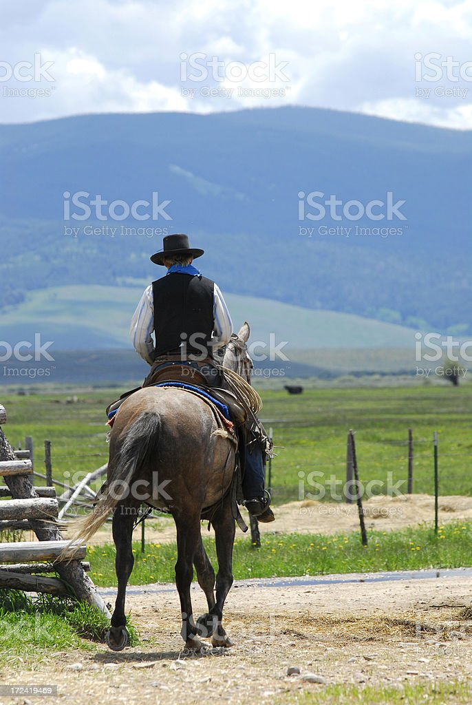 Leaving the Corral stock photo