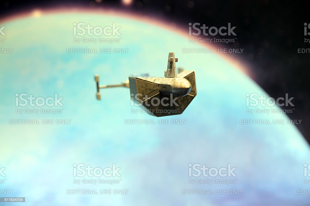 Leaving the Earth stock photo
