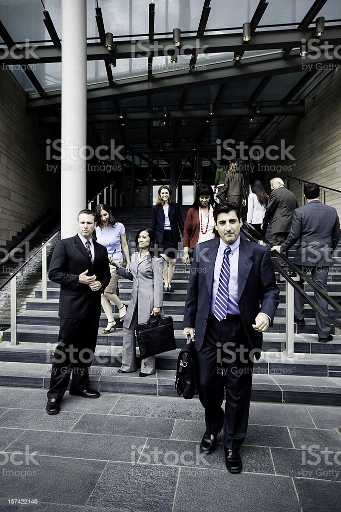 Leaving the Office - End of Work stock photo