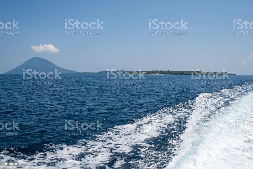 Leaving the Paradise, Byebye Bunaken Marine Park, back to Manado stock photo